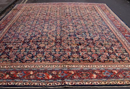antique mahal carpet superb all over design great colour outstanding circa 1900