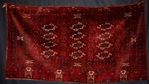 antique afghan turkmen chuval large size perfect condition superb circa 190020