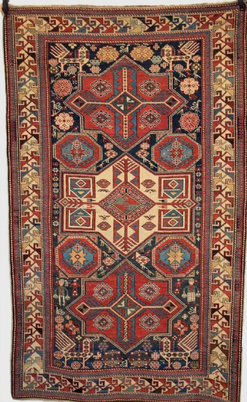 antique caucasian shirvan akstafa star medallion rug superb circa 1880