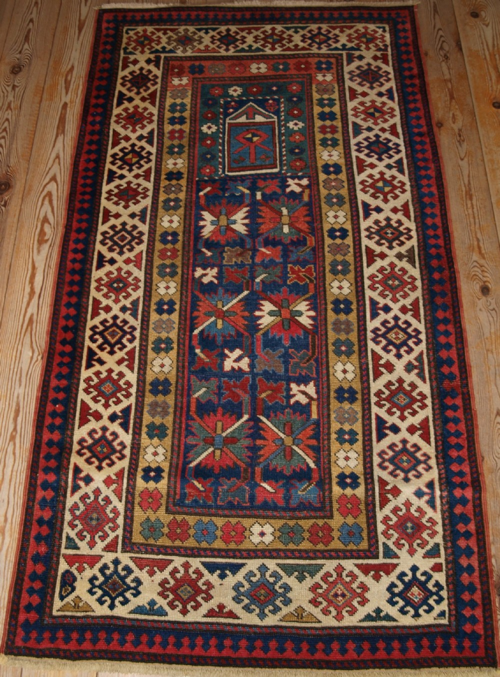 antique caucasian karabagh prayer rug great rug 4th quarter 19th cent