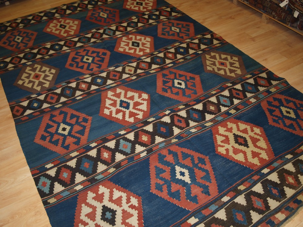 antique south caucasian shirvan kilim superb colour and design circa 1880