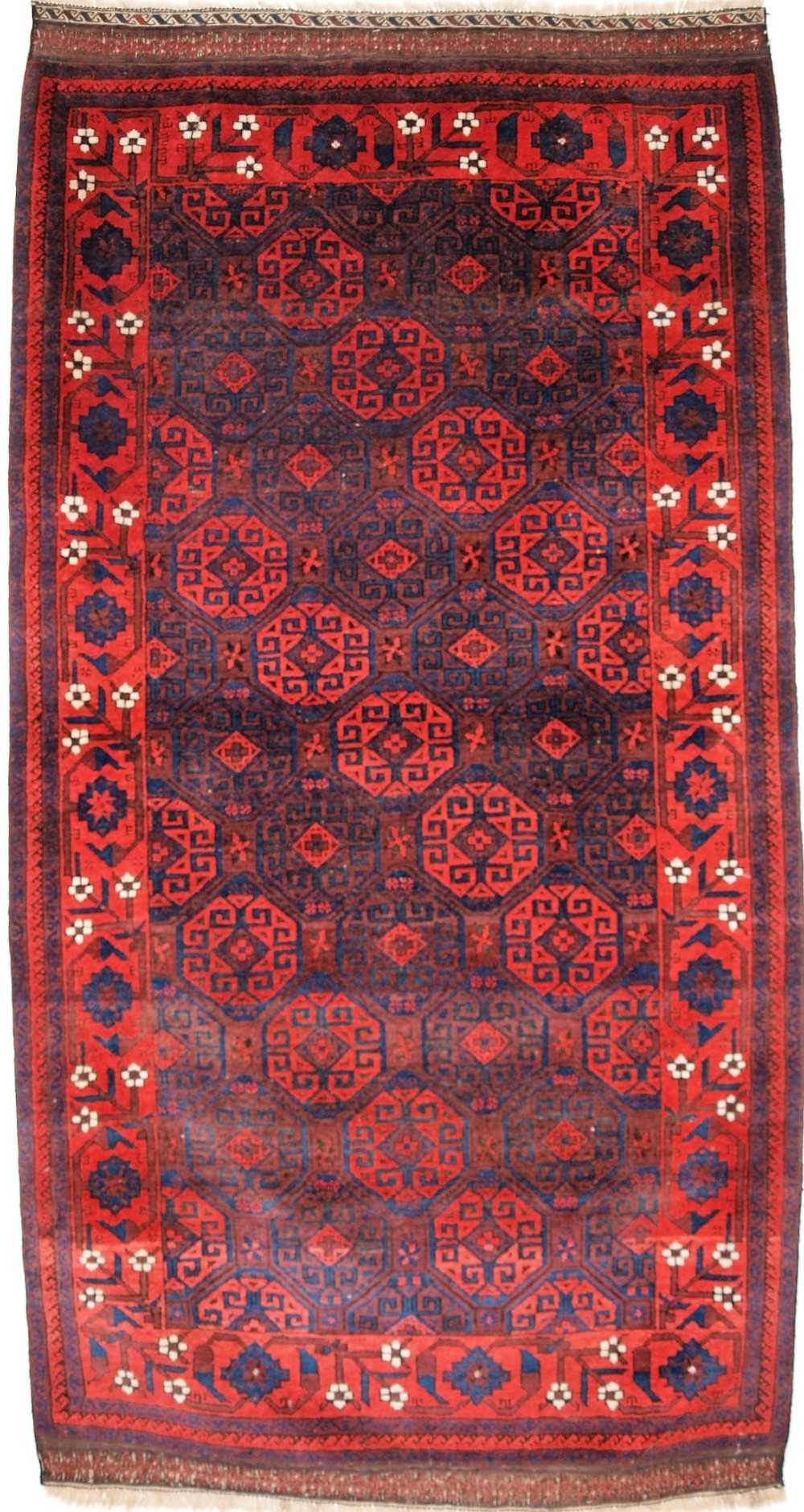 antique baluch rug with outstanding colour full pile great border circa 1880