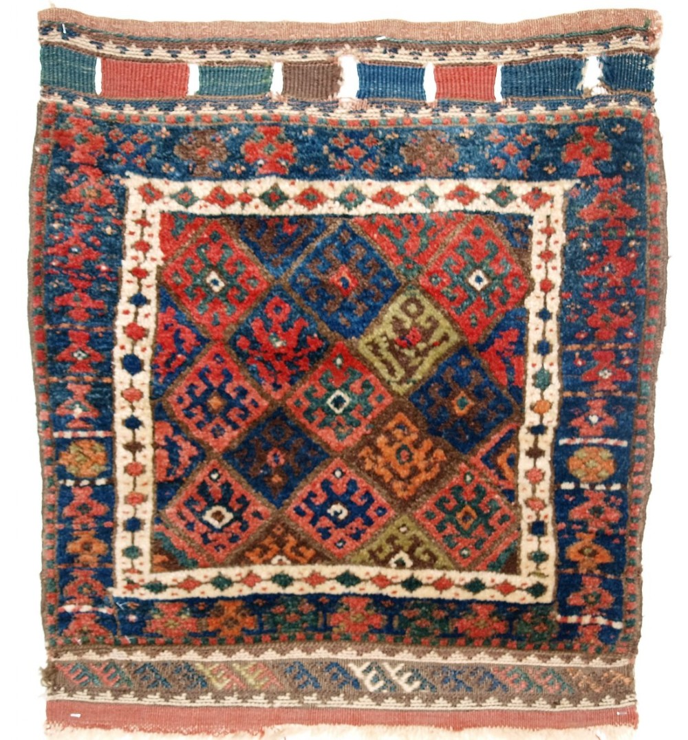 antique jaf kurd bag face thick pile and good colour circa 1900