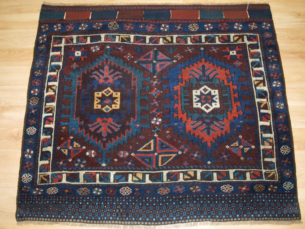 antique north persian bagface by the san jabi kurds a rare and collectable item late 19th century