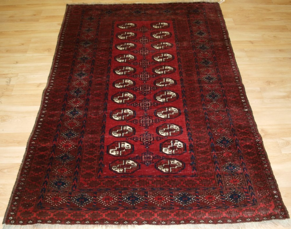 old afghan village rug traditional design rich colours hard wearing circa 1920