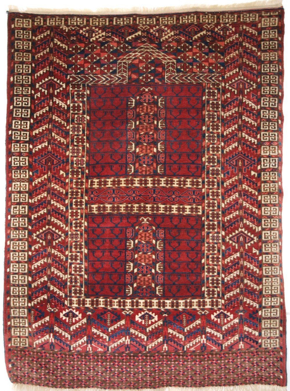 antique tekke turkmen ensi rug superb colour and condition circa 1900