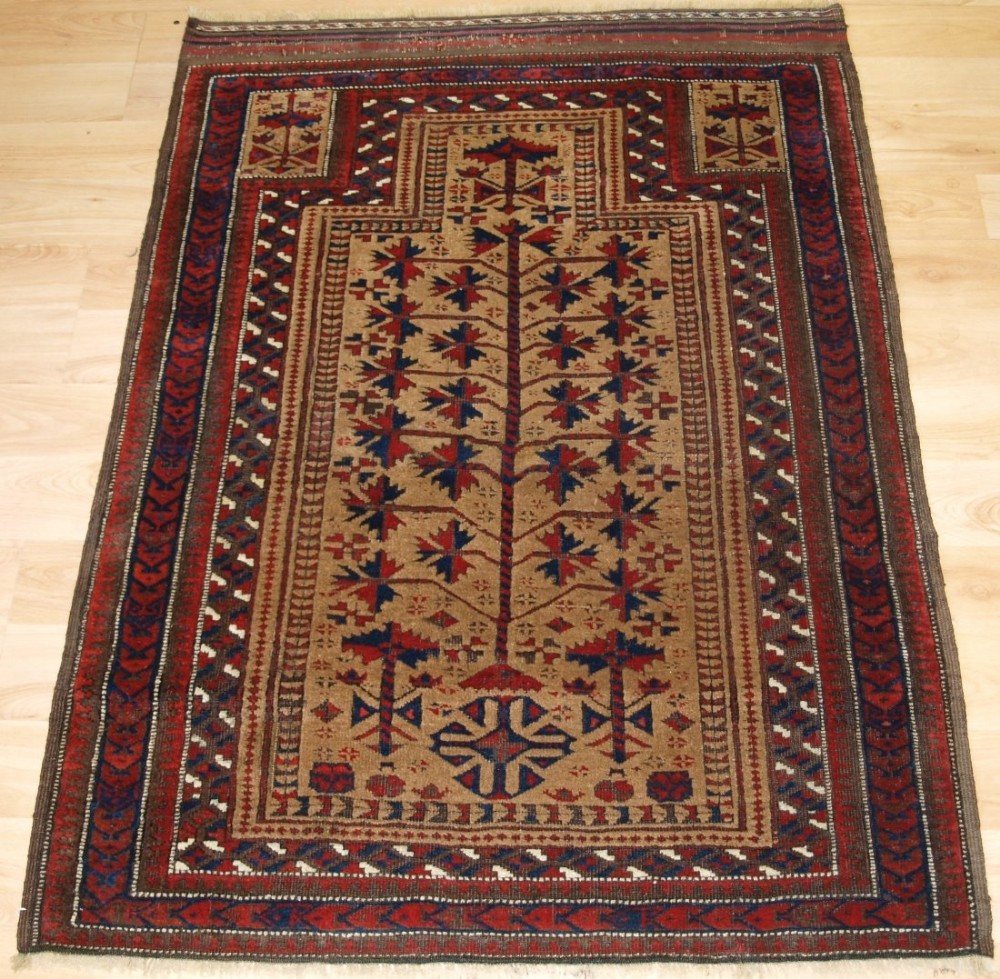antique persian baluch prayer rug 'sarakhs' baluch outstanding rug late 19th century