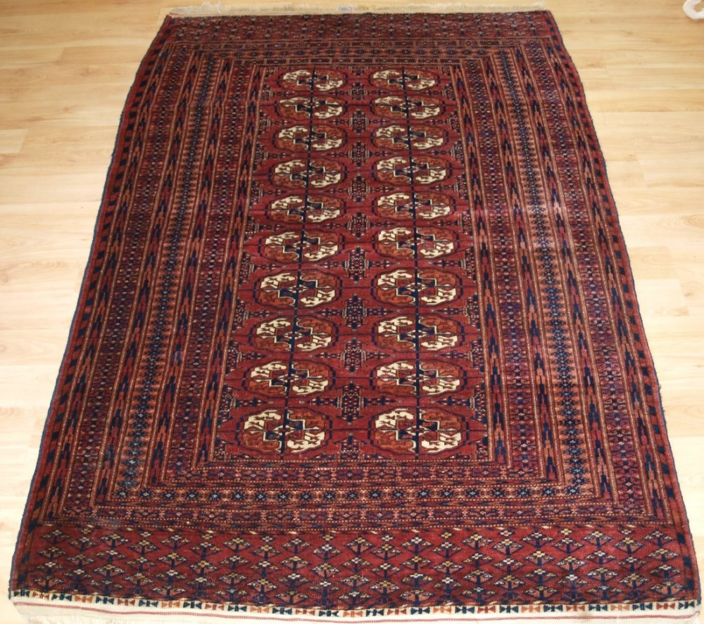 antique tekke turkmen 'dip khali' rug superb colour and condition circa 1900