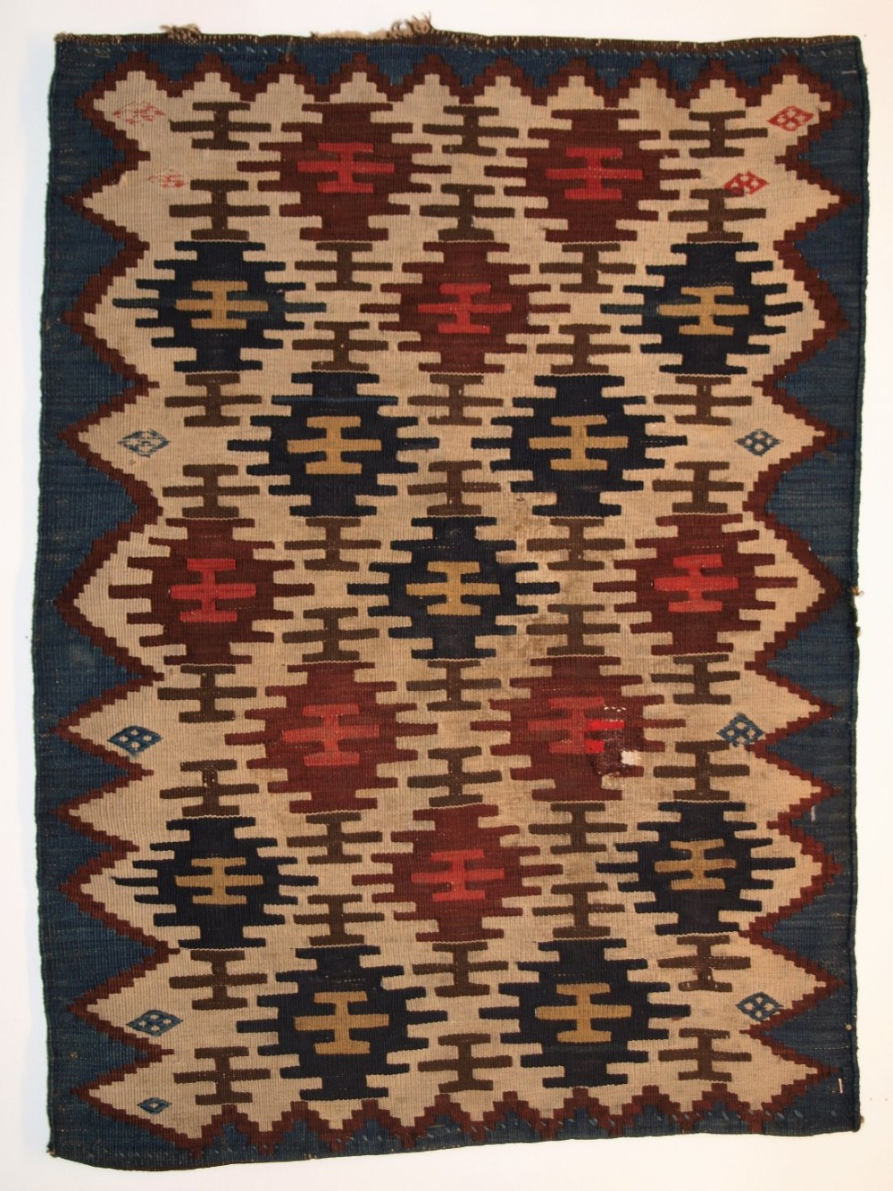 antique south caucasian or shahsavan flat weave mafrash end panel one of a pair circa 1880