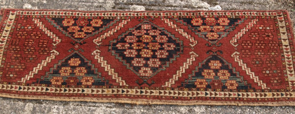 antique ersari turkmen torba of scarce design 2nd half 19th century