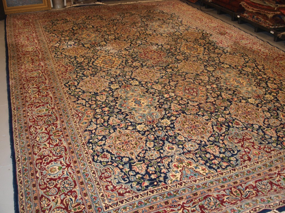 old persian kirman carpet by master weaver rashid farrokhi garden design with superb colour circa 192030