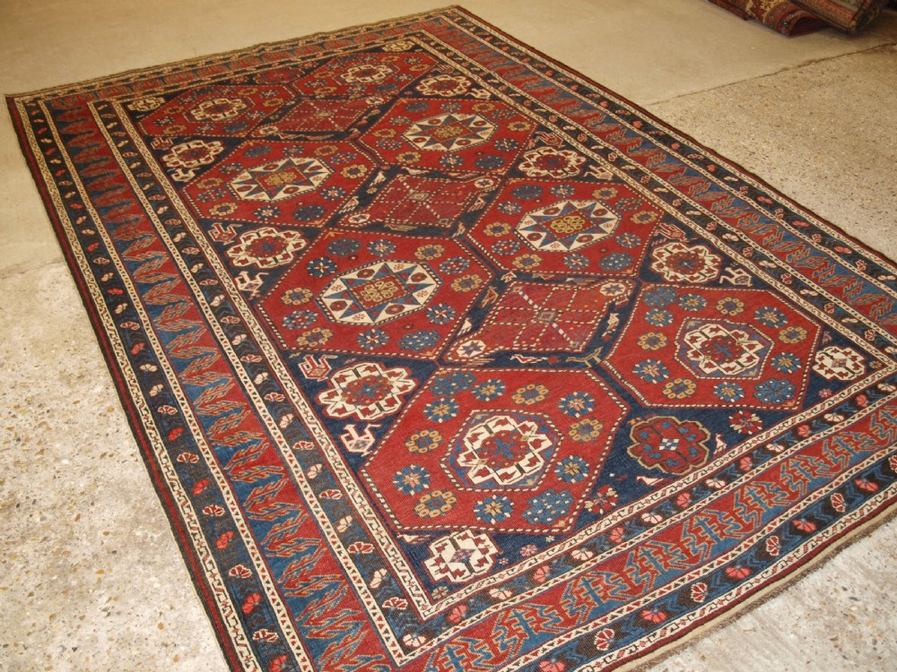 antique caucasian khila rug baku region outstanding example of type late 19th century