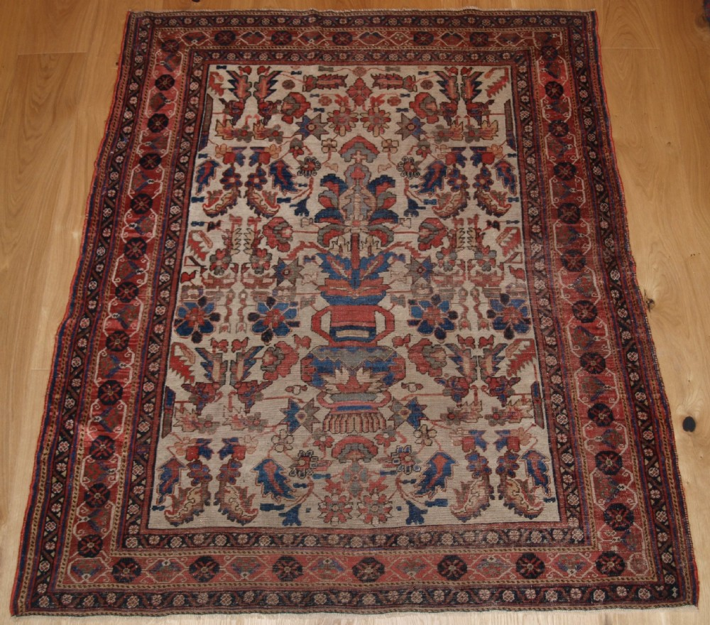 antique persian afshar vase design rug very fine weave scarce item 2nd half 19th century