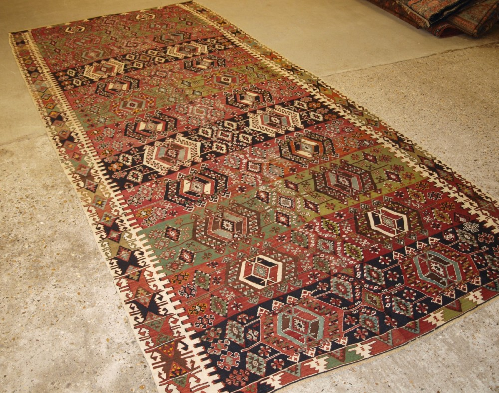 old turkish malatya kilim woven in two parts superb design and colour circa 190020