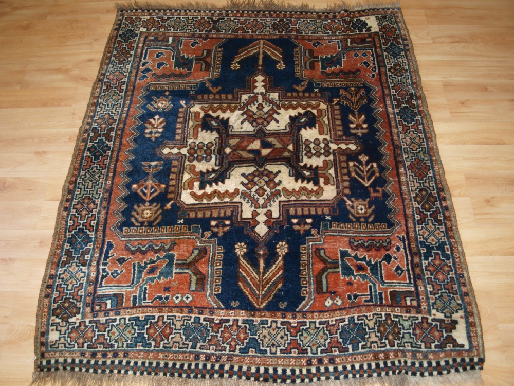 antique rug by the luri tribe south west persia small tribal rug circa 1900