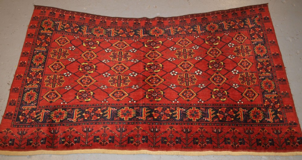 antique beshir turkmen chuval camel bag of large size circa 1900