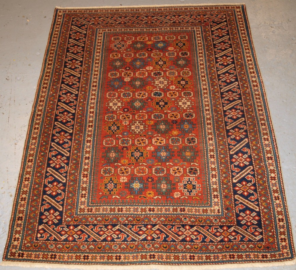 old east caucasian chichi village rug traditional design about 20 years old