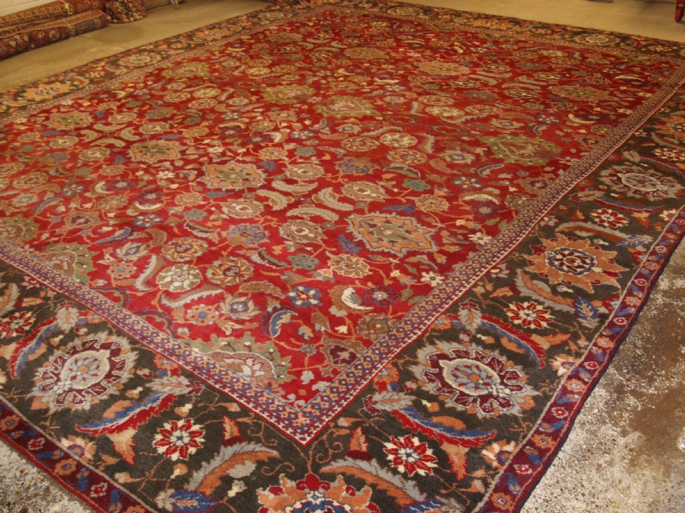 antique irish donegal carpet in the indian agra style superb country house carpet circa 1870