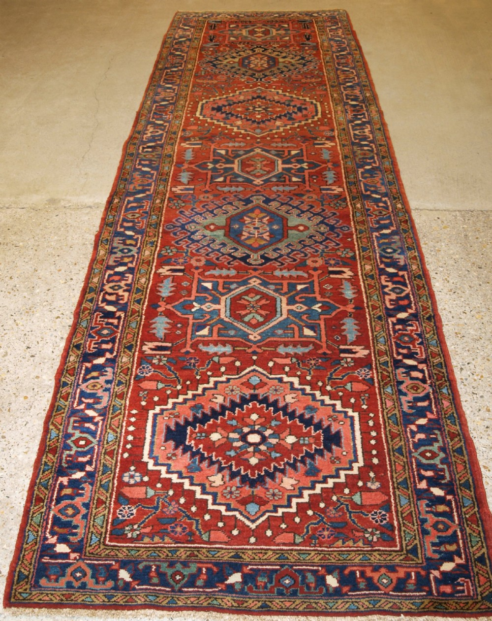 antique north west persian heriz runner excellent condition very hard wearing circa 190020