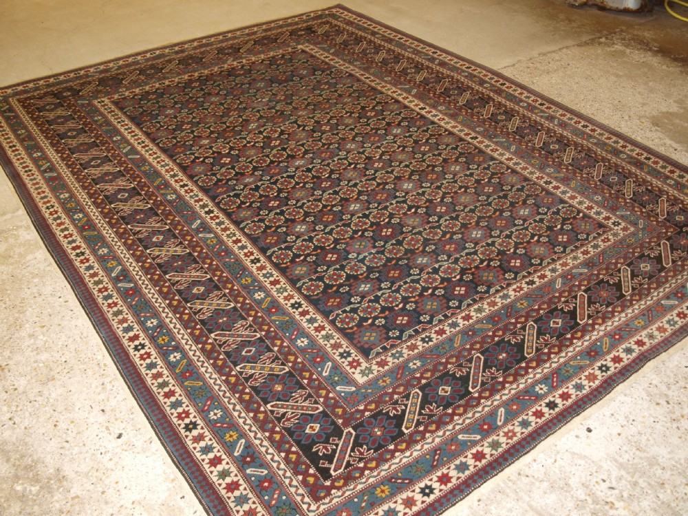 hand knotted turkish carpet with caucasian chichi design excellent condition 30 years old