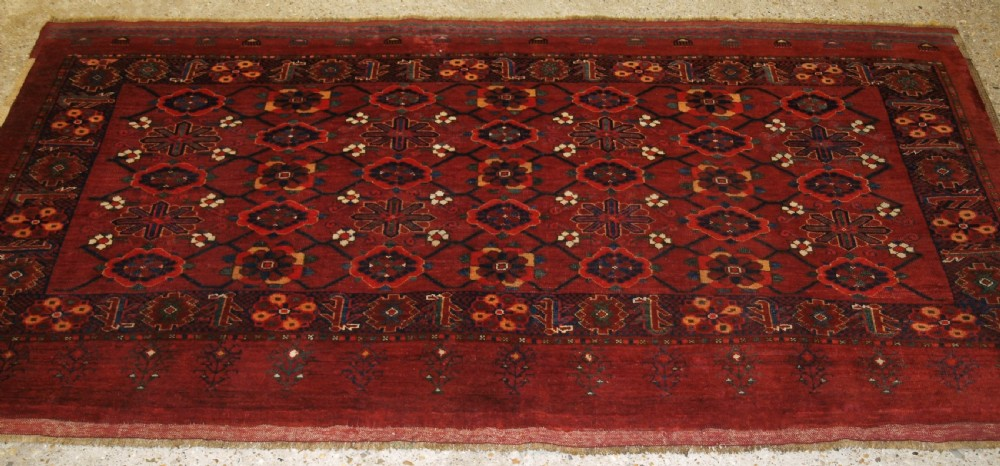 antique beshir turkmen chuval with mina khani design great condition late 19th century
