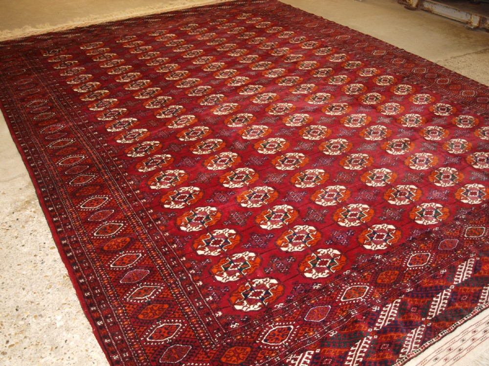 old tekke turkmen carpet of large size perfect condition circa 1930