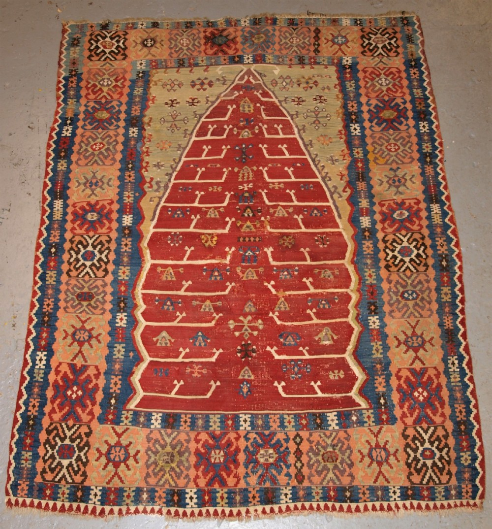 antique eastern turkish erzurum prayer kilim classic design 2nd half 19th century
