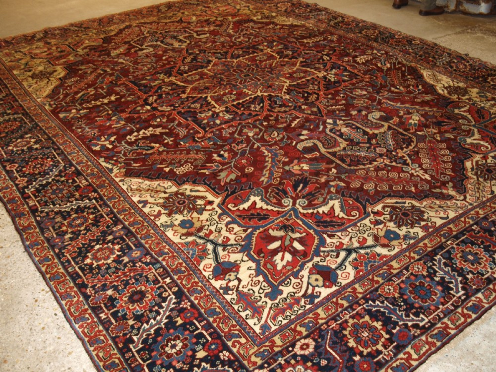 antique heriz carpet great condition and large size circa 1920