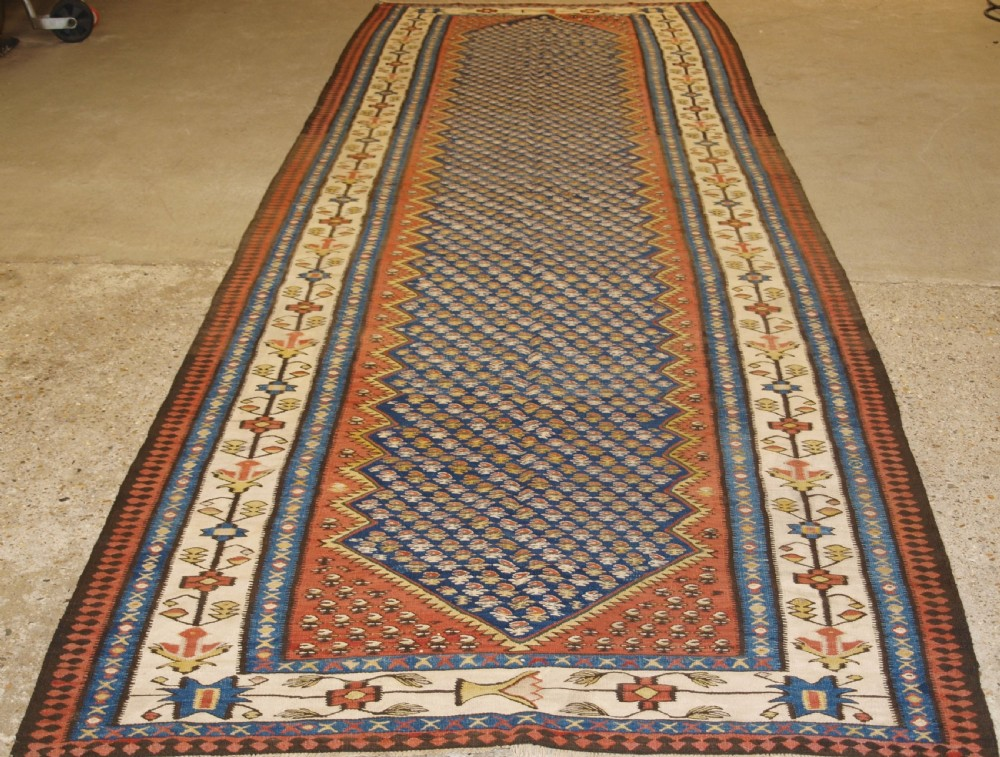 old persian bijar kilim of large size superb condition circa 1920