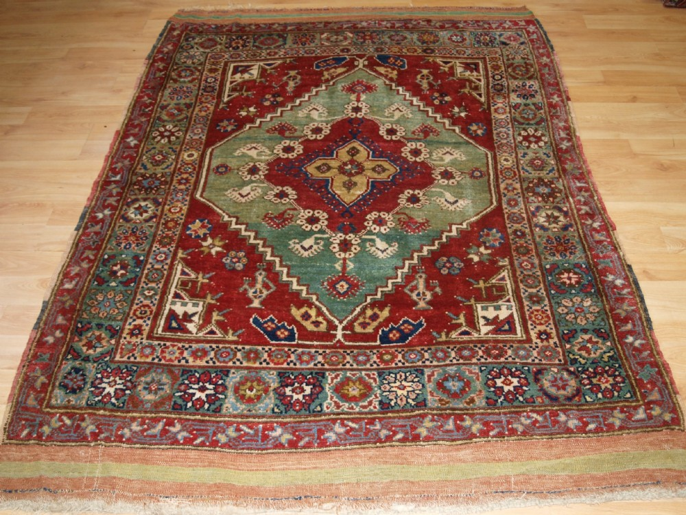 antique turkish dazkiri village rug great colour circa 1900