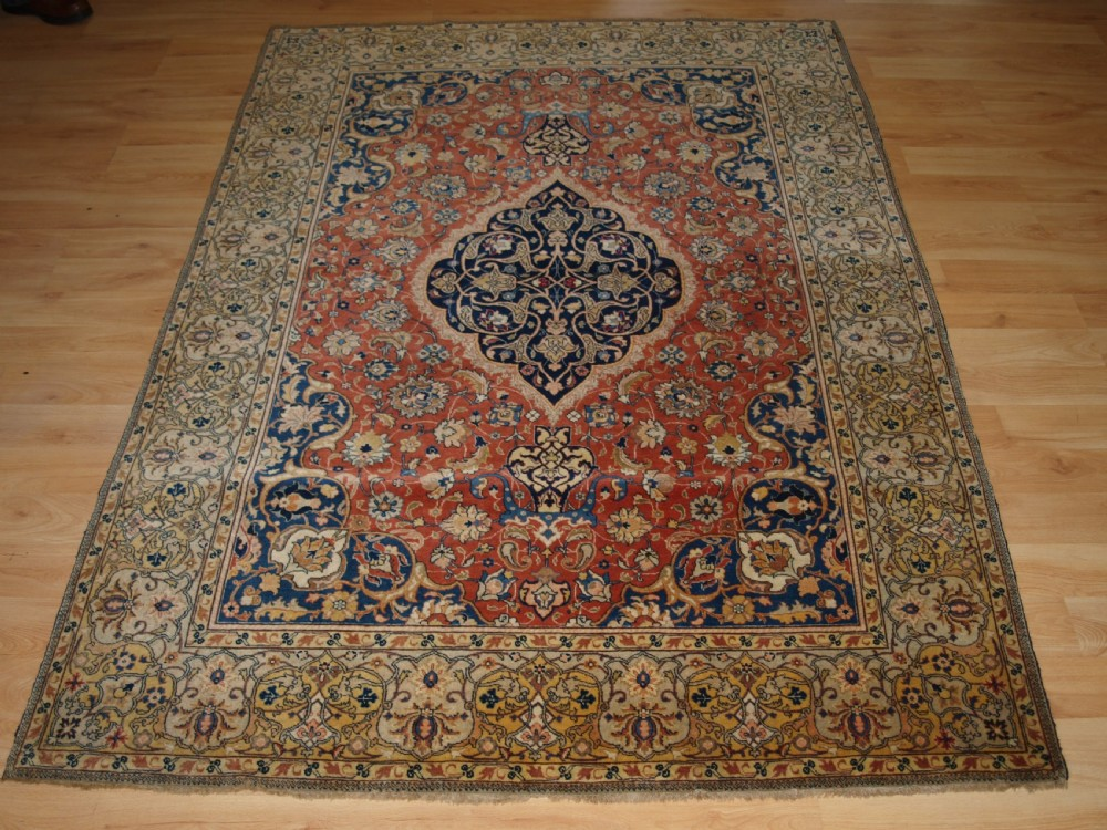 antique sarouk rug very fine weave outstanding condition circa 1900