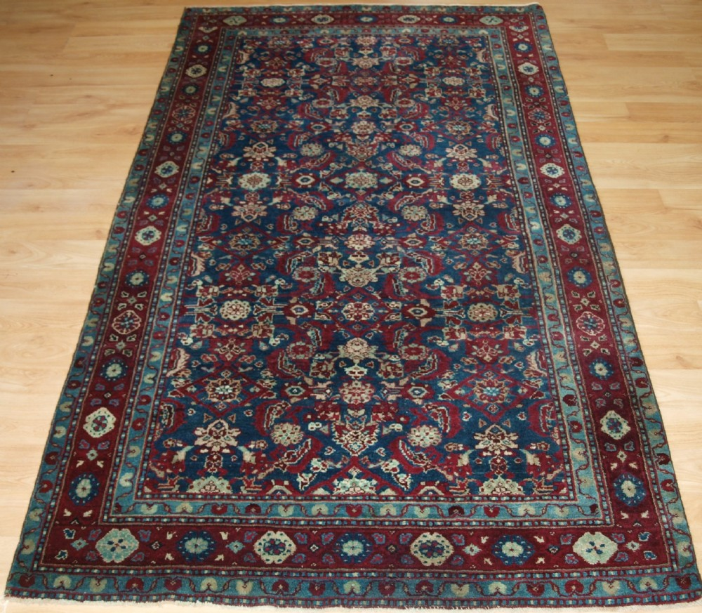 antique indian agra rug all over design with superb rich colours circa 1890