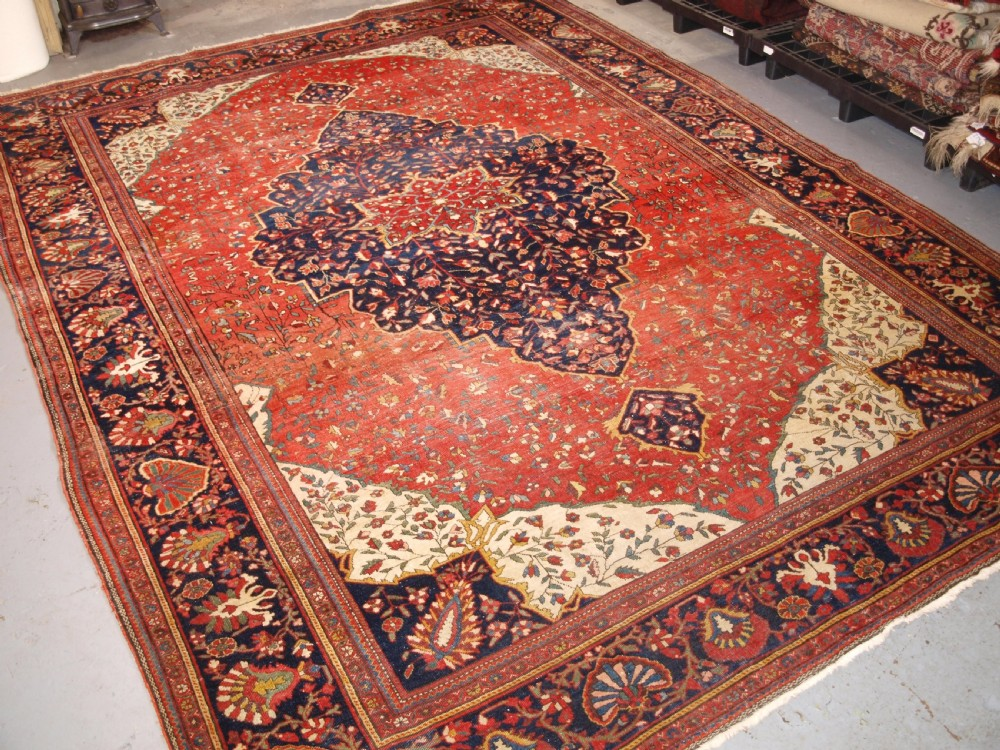 antique sarouk carpet superb country house look great colour circa 1890