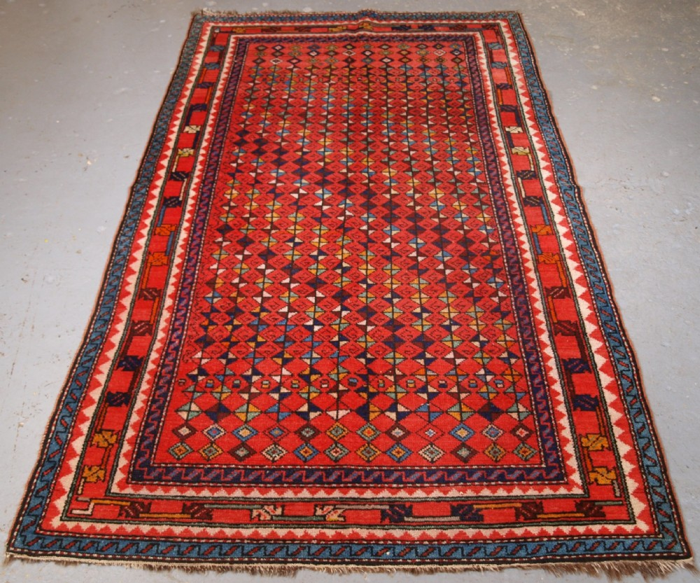 antique kurdish village rug great furnishing rug circa 1920