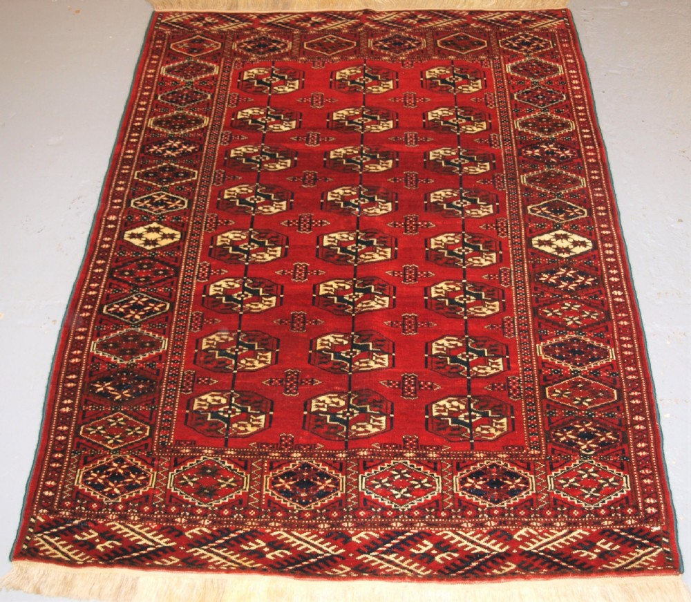 old afghan turkmen rug excellent condition good colour circa 192030