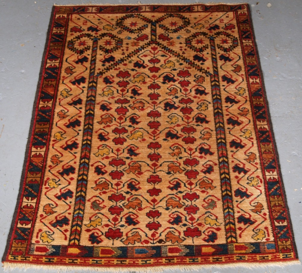 modern hand knotted afghan beshir turkmen prayer rug abt 10 years old