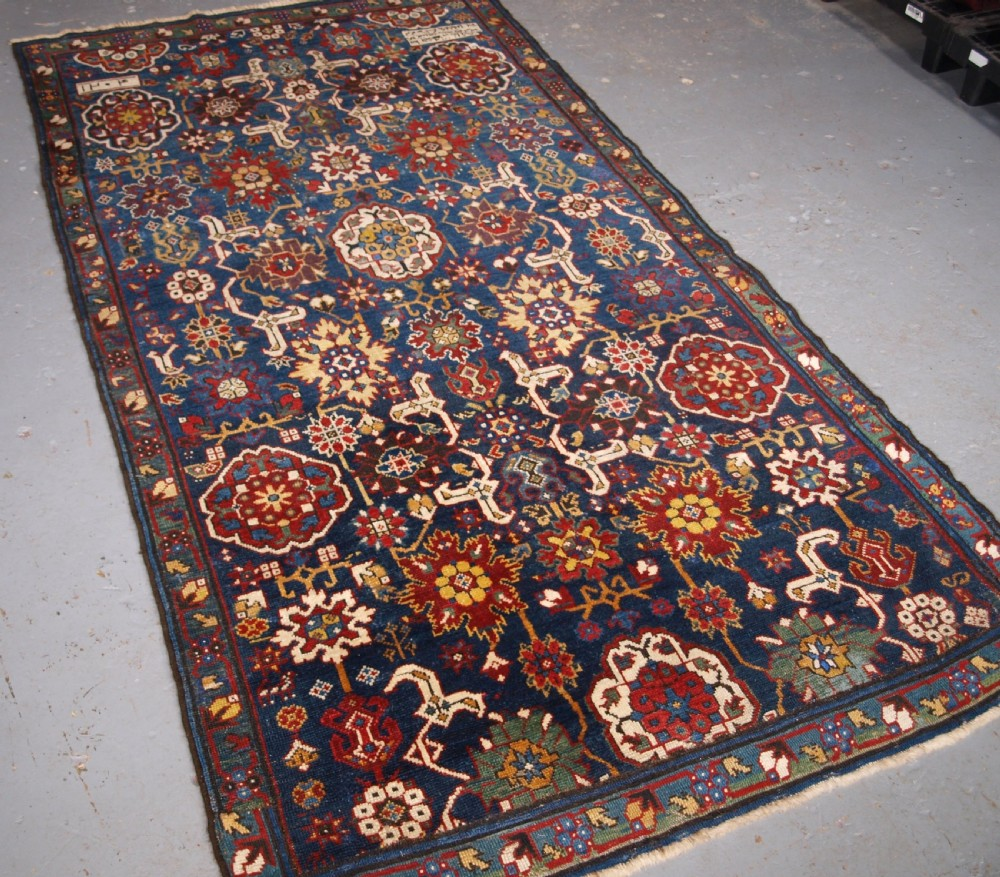 antique caucasian kuba rug fragment afshan design dated and inscribed 19th century