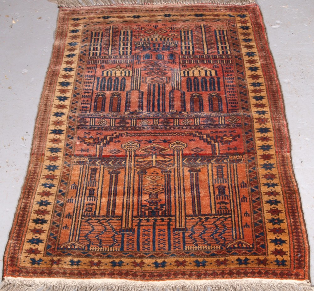 old afghan village prayer rug possibly kizil ayak circa 1920
