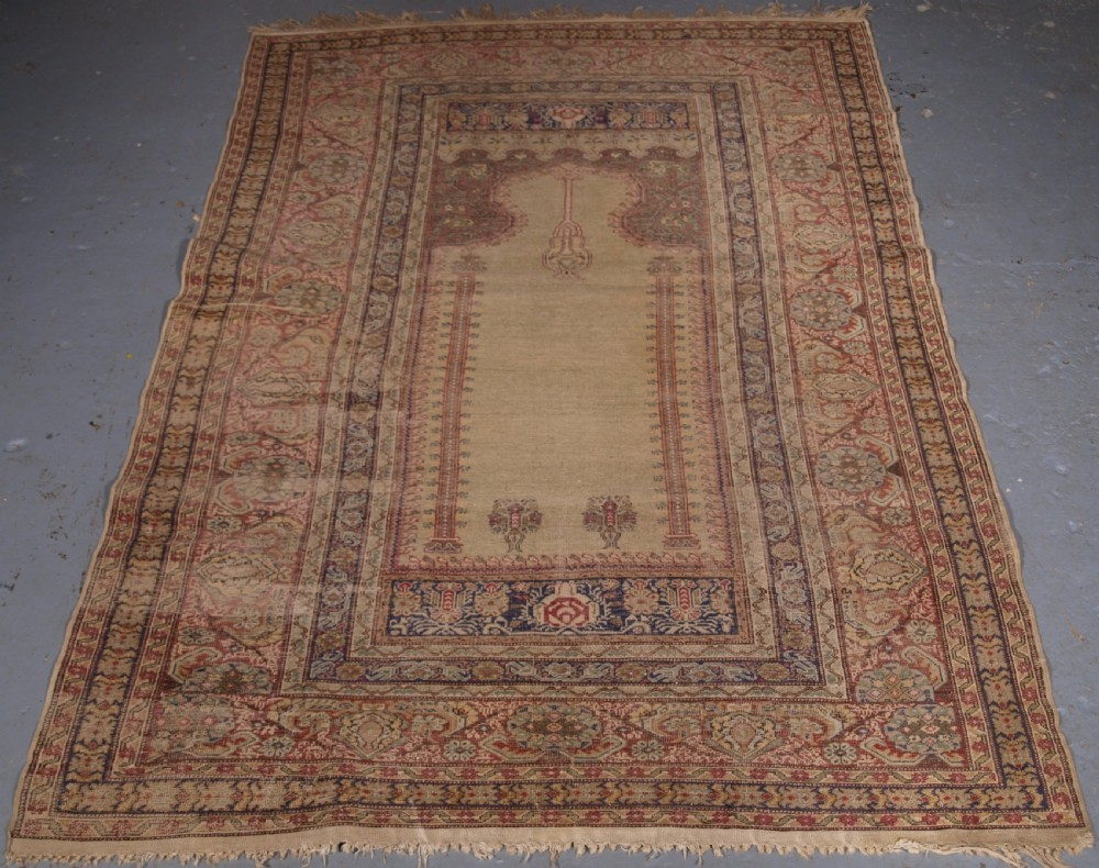 antique turkish ghiordes prayer rug classic design 2nd half 19th century