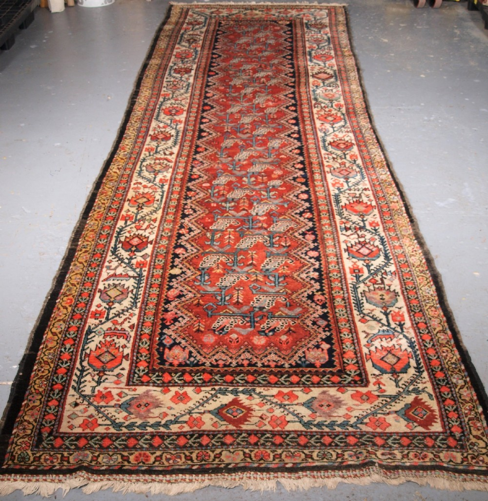 antique malayer runner of large size country house style circa 190020