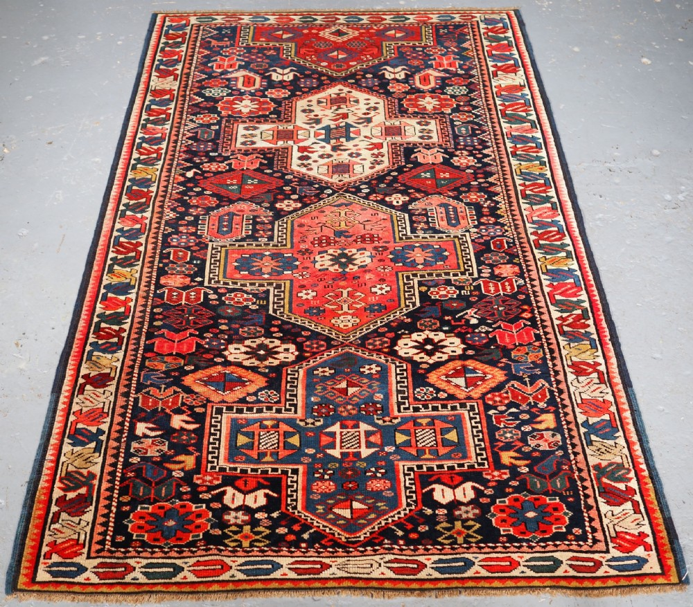 antique caucasian kuba reagion rug with cruciform medallions circa 190020