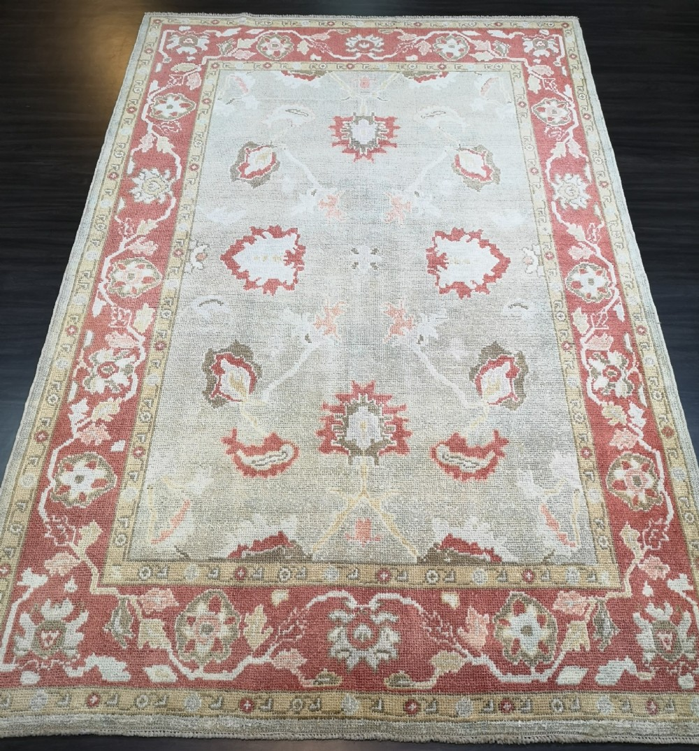 turkish oushak village carpet hand knotted in traditional design 300 x 197cm